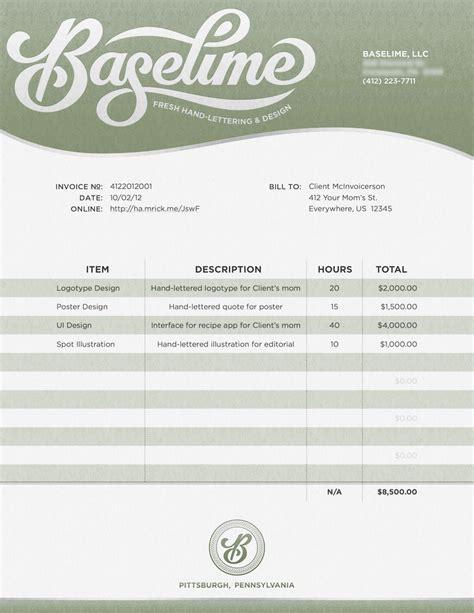 invoice design creative 35 creative invoices designed to leave a good impression