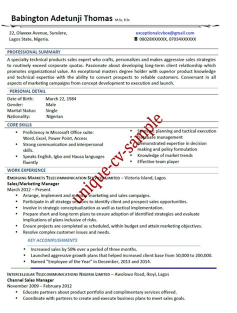 cv format in nigeria what is the proper way of sending cv through email jobs