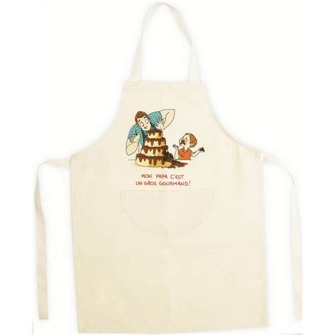 cuisine enfant 4 ans tablier de cuisine enfant beige en coton papa gourmand 4 6 ans