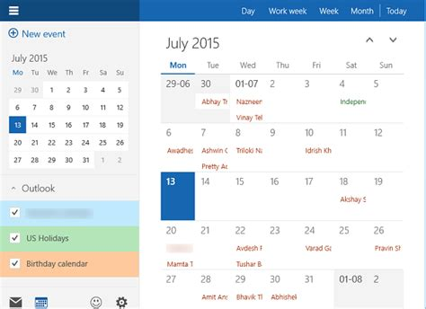 how to use windows 10 calendar app
