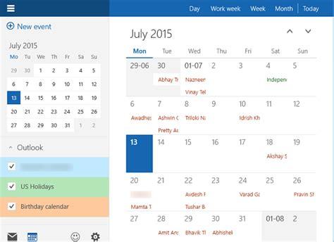 Calendar App Windows How To Use Windows 10 Calendar App
