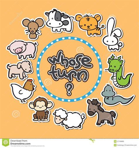 new year 12 zodiac animals 12 animals zodiac new year background royalty free stock