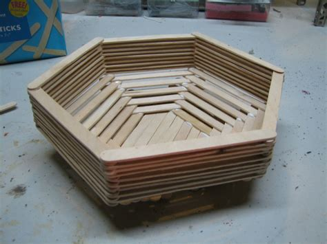 projects with craft sticks popsicle stick basket