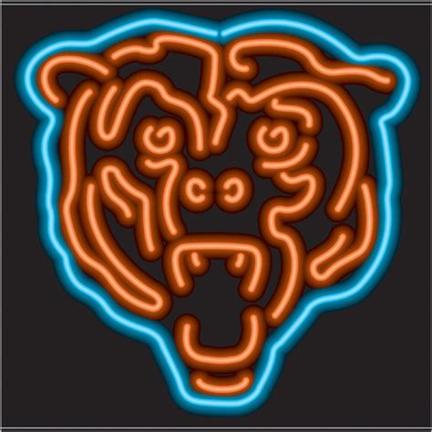 chicago bears light up sign 26 best images about da s on logos