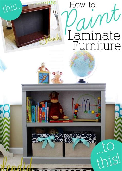 how to paint laminate furniture reuse that bookcase
