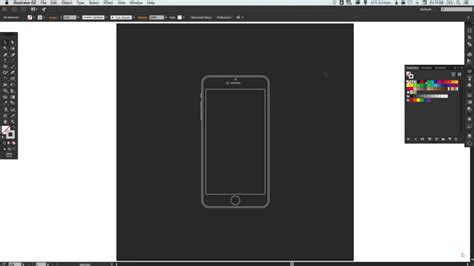 draw an iphone 6 wireframe in illustrator