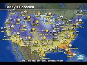 the weather map of the united states esl understanding today s weather report from the united