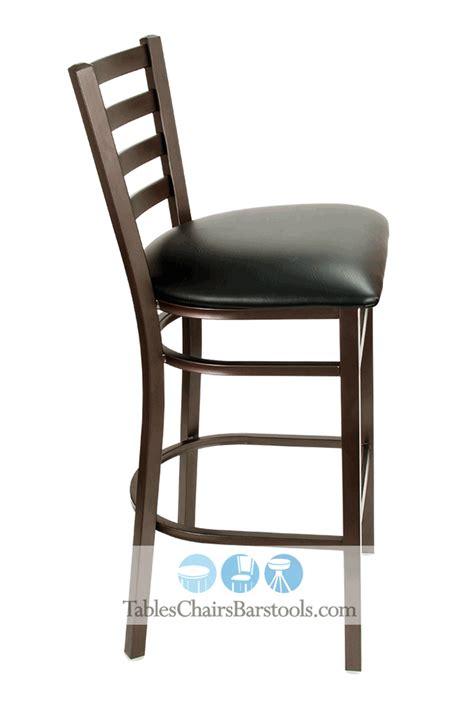 east coast bar stool gladiator rustic brown ladder back gladiator rustic brown powder coat ladder back metal bar