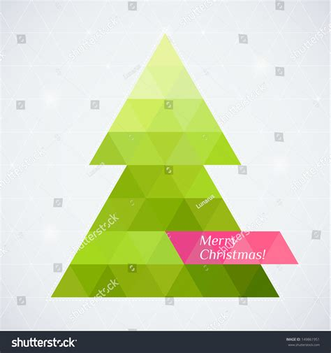 Vector Christmas Tree Triangle Lights Background Stock Vector 149861951 Shutterstock Triangle Tree Template
