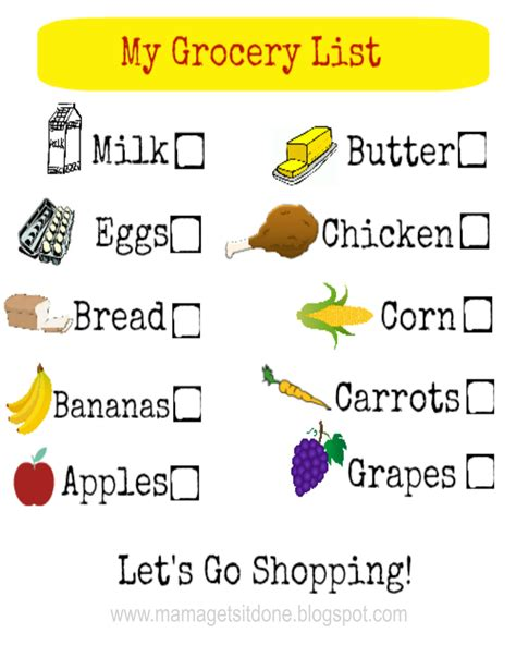 printable grocery list for toddlers mama gets it done grocery shopping with kids