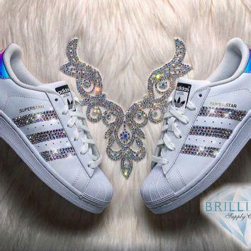 adidas superstar womensgirls shoes white metallic stripes