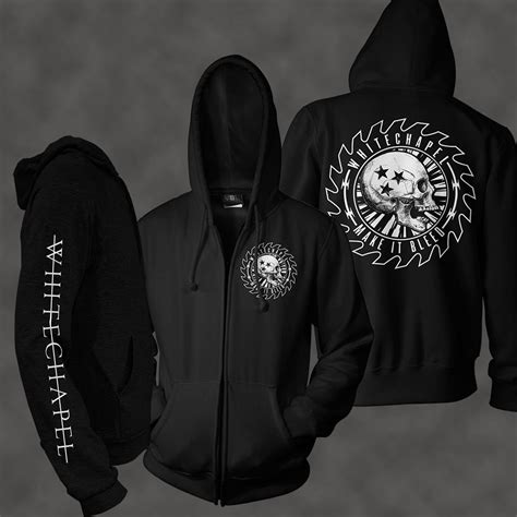 Zipper Withechapel Black tetanus black wc00 merchnow your favorite band merch and more