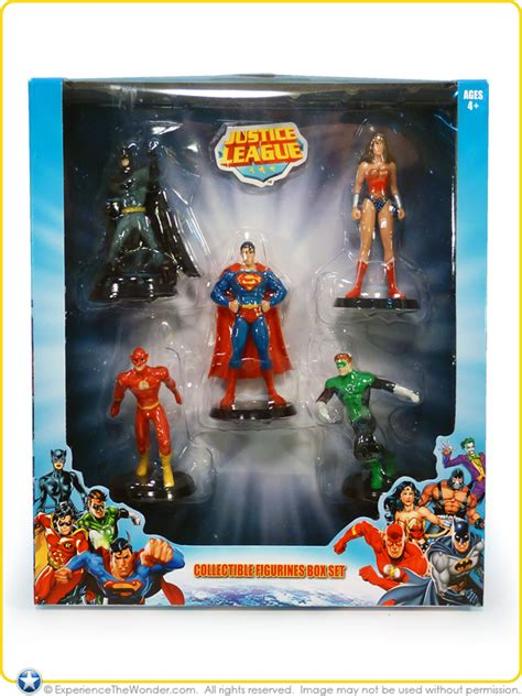 east west distributing company walgreens justice league collectible figurines box set pvc