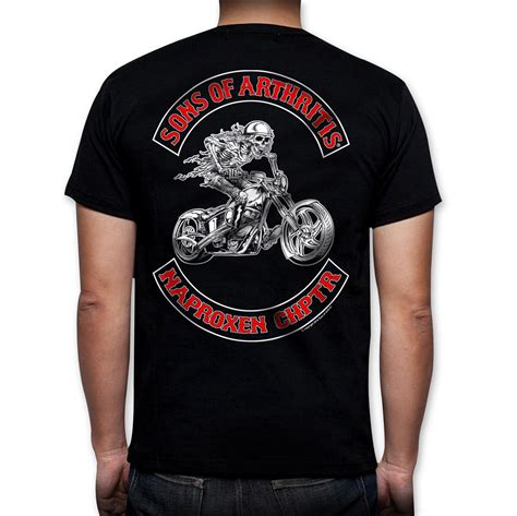 Black T Shirt Borla Exhaust S T Shirt Size M sons of arthritis s naproxen chapter black t shirt 162 468 j p cycles