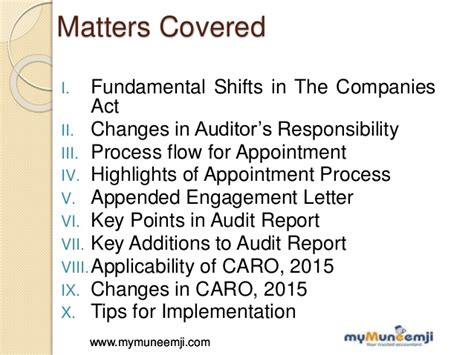appointment letter to auditor companies act 2013 highlights on changes in audit formalities new