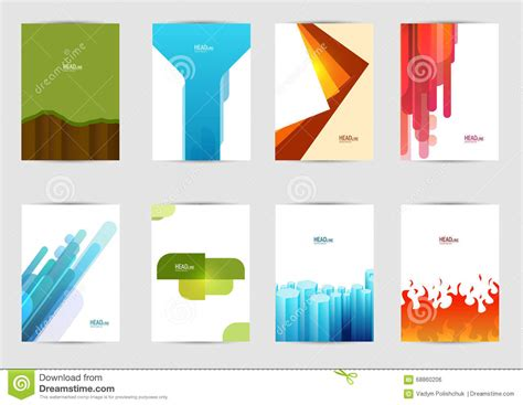 leaflet cover layout set of templates covers for flyer brochure banner