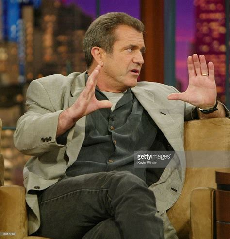 Actor Leno by Actor Mel Gibson Talks About His New Of