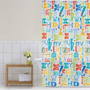 kids shower curtains kohls kids bathroom home classics letter press peva shower
