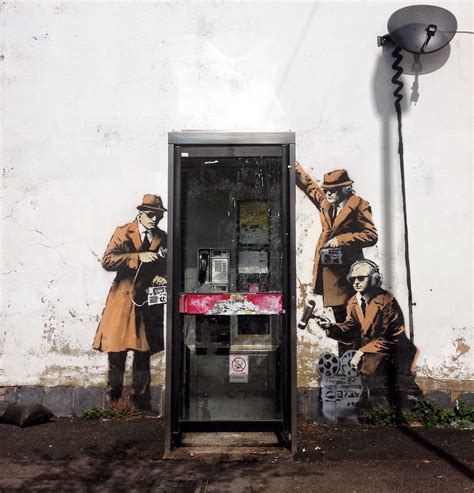 home lovers mobile lovers spy booth new murals from banksy