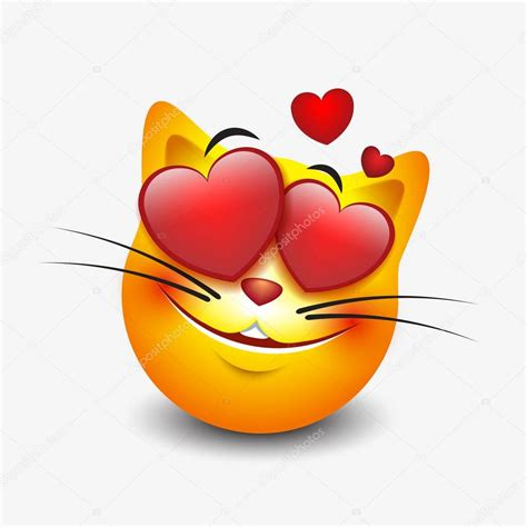 imagenes emoji de amor in love cat emoji stock vector 169 i petrovic 129682644