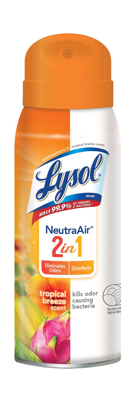 lysol disinfectant spray neutra air tropical breeze scent  oz walmartcom walmartcom