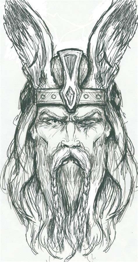 pencil drawings tattoo designs odin odin sketch by plunderedpsyche drawing tutorials
