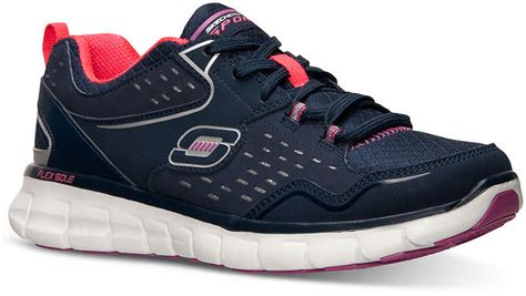 memory foam running shoes skechers front row memory foam running sneakers from