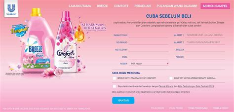 email format unilever free breeze comfort sle at unilever malaysia giftout