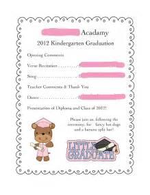 Preschool Graduation Program Template by The Nature Of Grace Homeschool Theme Of The Week