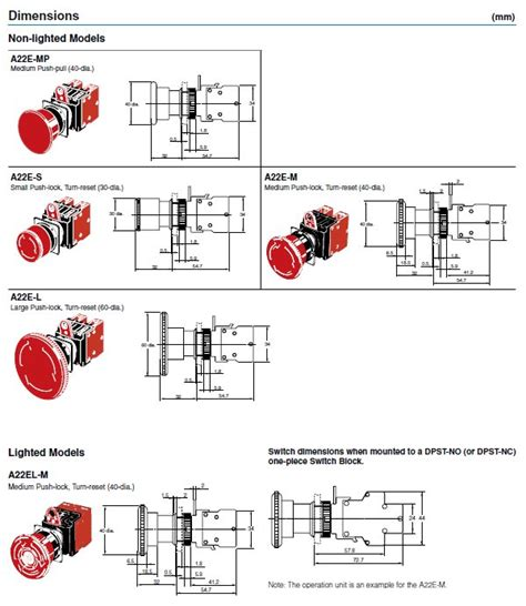 a22e m 12 emergency stop switch omron sti valin