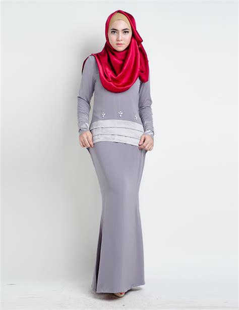 Baju Songket Grey baju kurung moden anessa grey lovelysuri