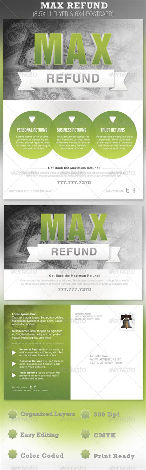 Tax Preparation Flyers Templates 187 Maydesk Com Tax Preparation Postcards Templates
