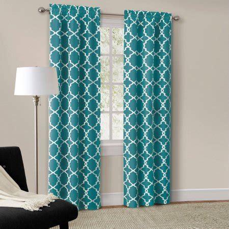 teal curtains walmart mainstays calix fashion window curtain set of 2 walmart com
