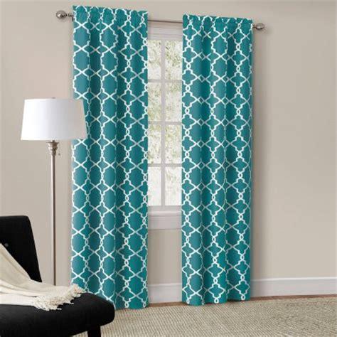 Aqua Color Curtains Designs Mainstays Calix Fashion Window Curtain Set Of 2 Walmart