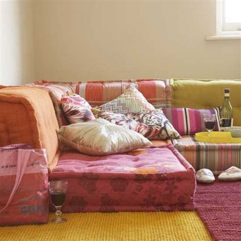 floor cushion sofa get the look bohemian floor cushions finding euphoria