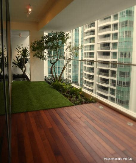 U Home Interior Design Pte Ltd gardens in the sky landscaping for the high rise all