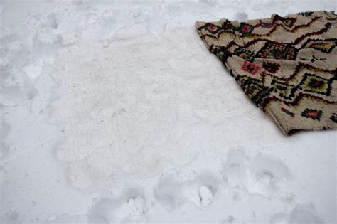 snow rug how to clean rugs in the snow hgtv