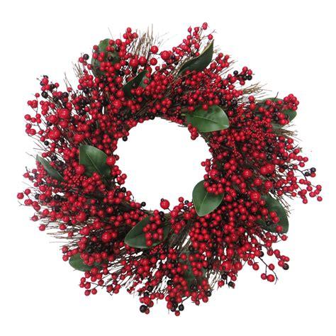 artificial wreaths shop living 30 in indoor berry artificial
