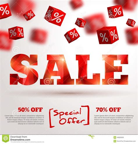 event layout sle sale poster vector illustration design template stock
