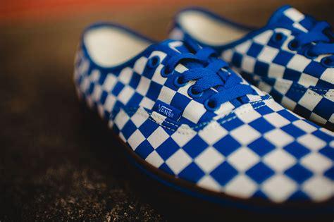 vans checkered pattern vans authentic checkerboard blue gum sneaker bar detroit