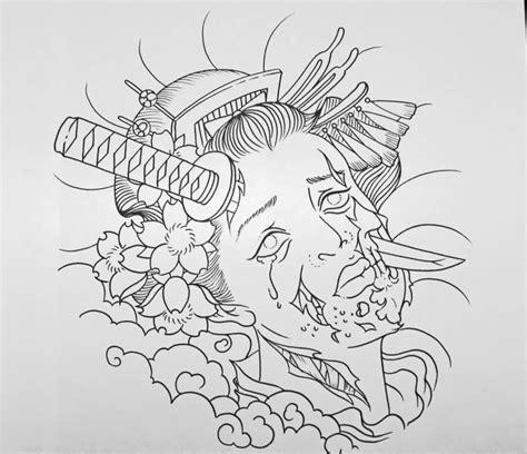 geisha tattoo outline comments off on geisha tattoo undead zombie geisha