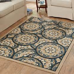 Better Homes And Gardens Area Rugs Better Homes And Gardens Blue Tokens Driftwood Olefin Area
