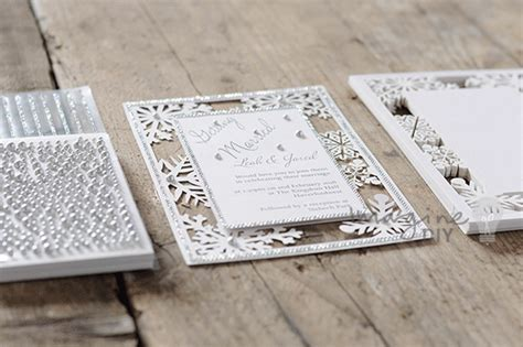 Snowflake Laser Cut Wedding Invitation Diy Imagine Diy