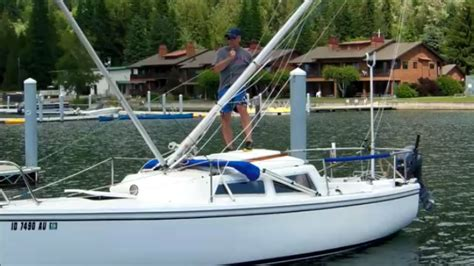 sailboat pole how to step a mast single handed with or without using the