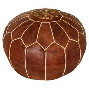 Moroccan Ottoman Pouf Ikram Design Moroccan Leather Pouf Ottoman Reviews Wayfair
