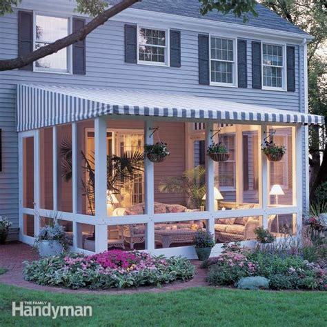 patio deck designs with screen room posted by all custom aluminum at 12 09 pm no comments how to build a screened in patio family handyman