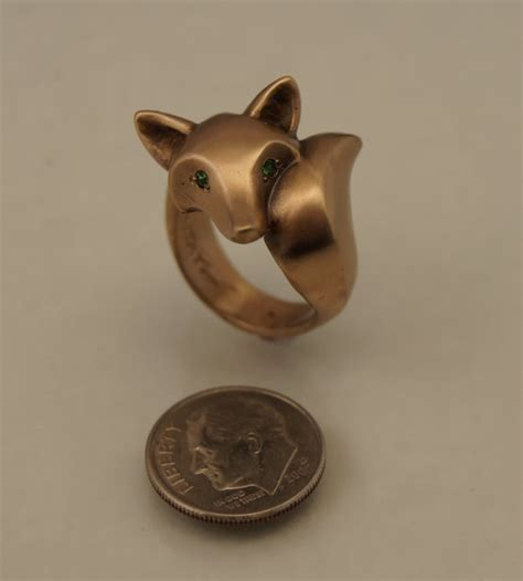 1000 ideas about fox ring on gold ring