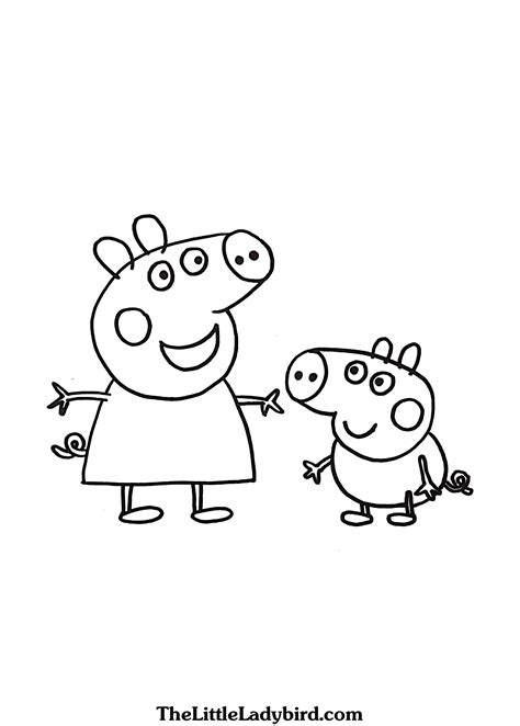 colouring pictures of peppa pig and george colouring pictures of peppa pig and george peppa pig