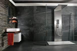 slate tile bathroom ideas decoraciones de ba 241 os con porcelanato