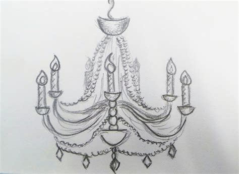 easy to draw chandelier i don t if it s but i i like it was